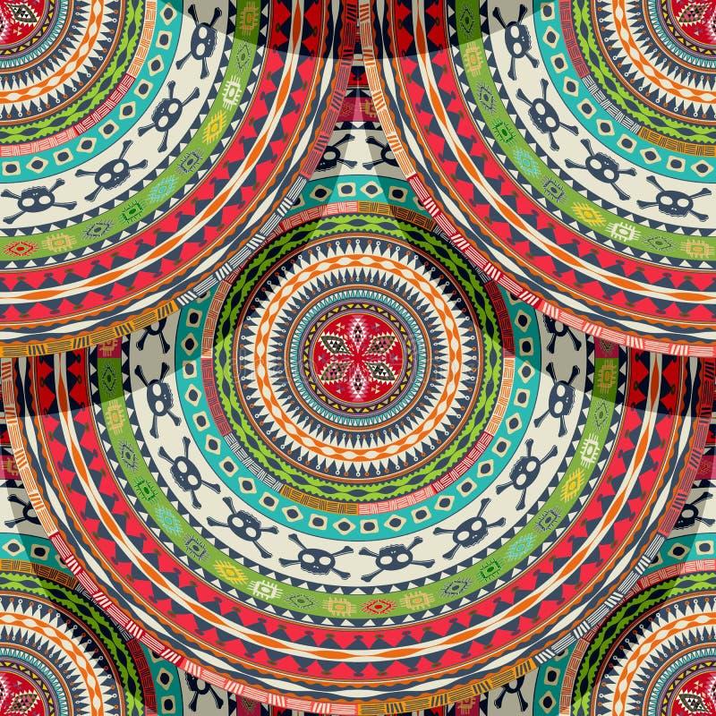 Native aztec, mayan tile royalty free illustration