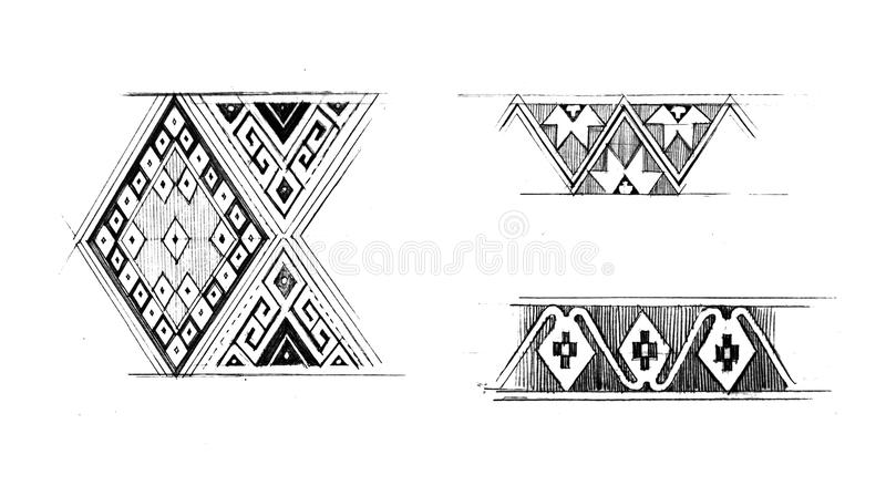 Download Native Graphic Pattern Hand Draw Illustration Stock Photos - Image: 31472223