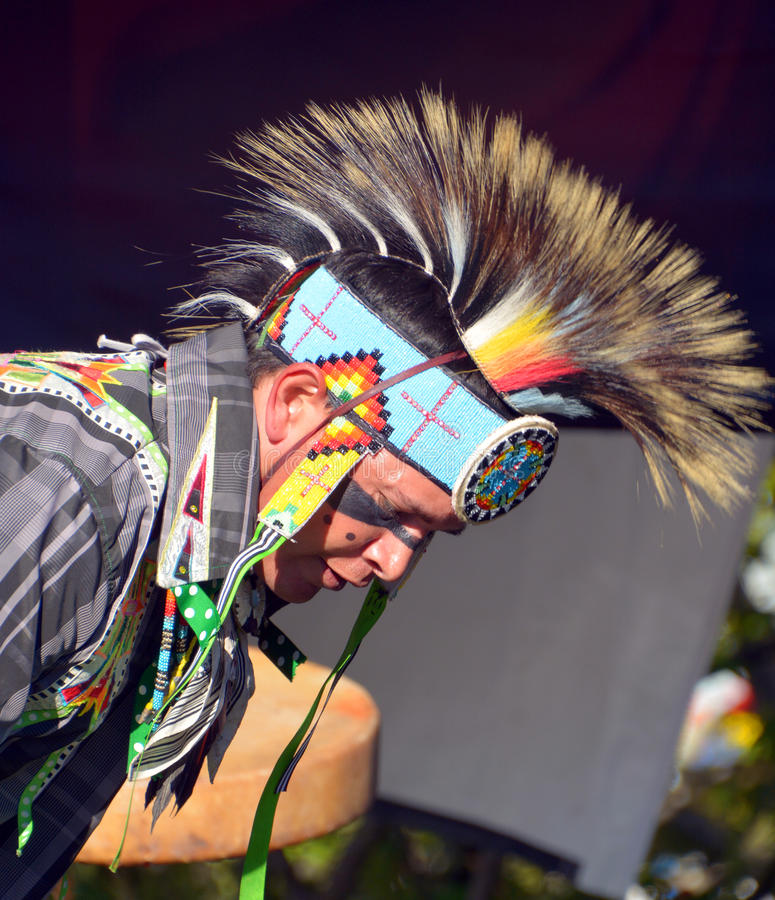 Native Indian people stock images