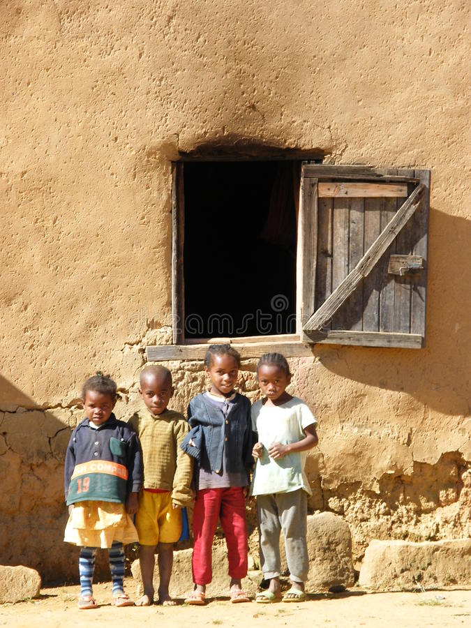 Native Malagasy Children stock image