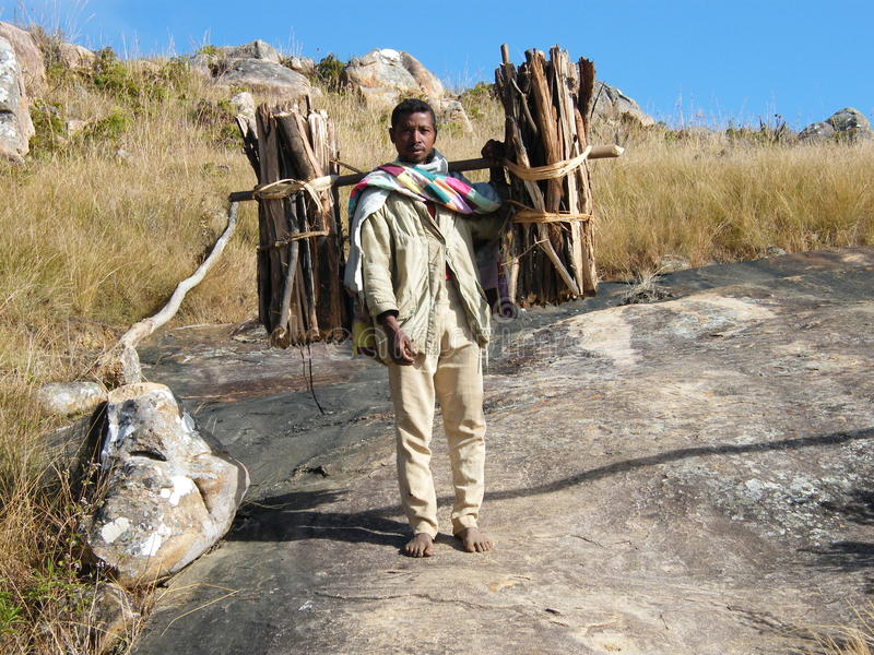 Native Malagasy man stock photo