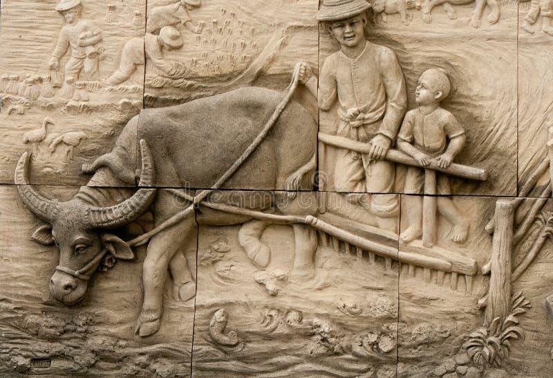 Native molding art on wall