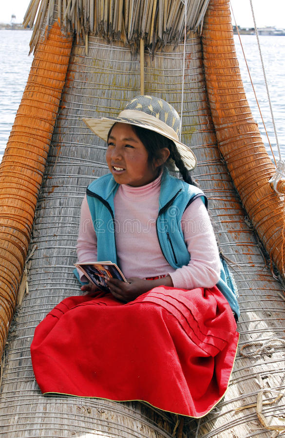 Native peruvian girl royalty free stock photography