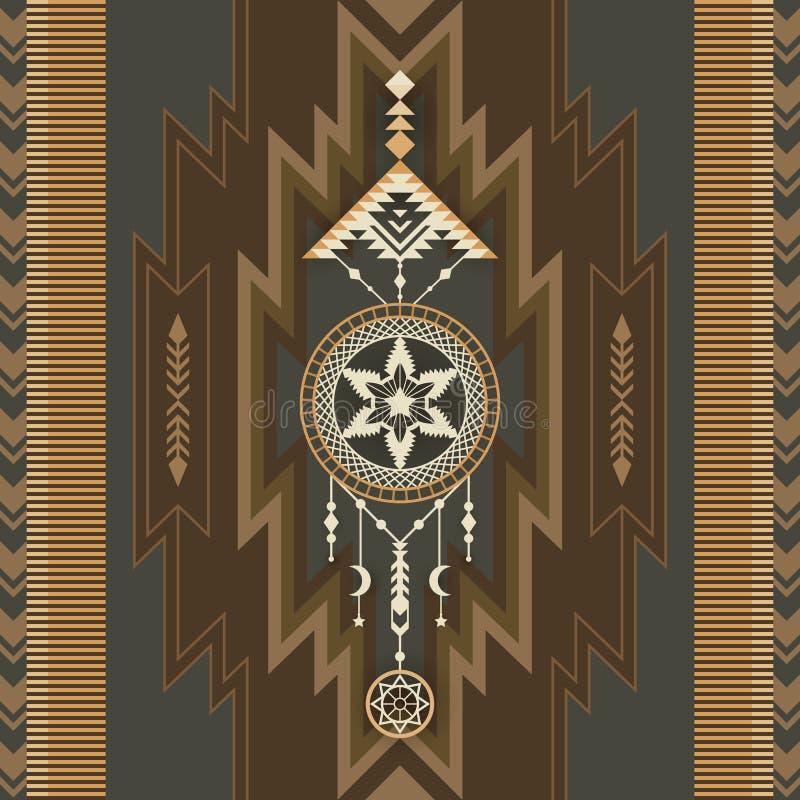Native Southwest American, Aztec, Navajo print stock photo
