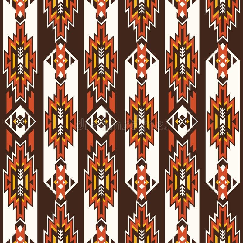 Native Southwest American, Aztec, Navajo seamless pattern stock photos