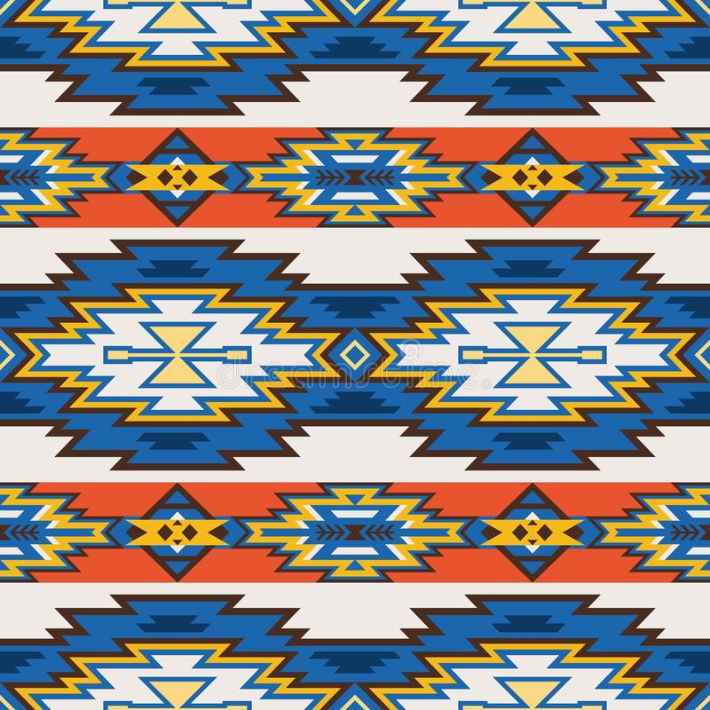 Native Southwest American, Aztec, Navajo seamless pattern stock photo