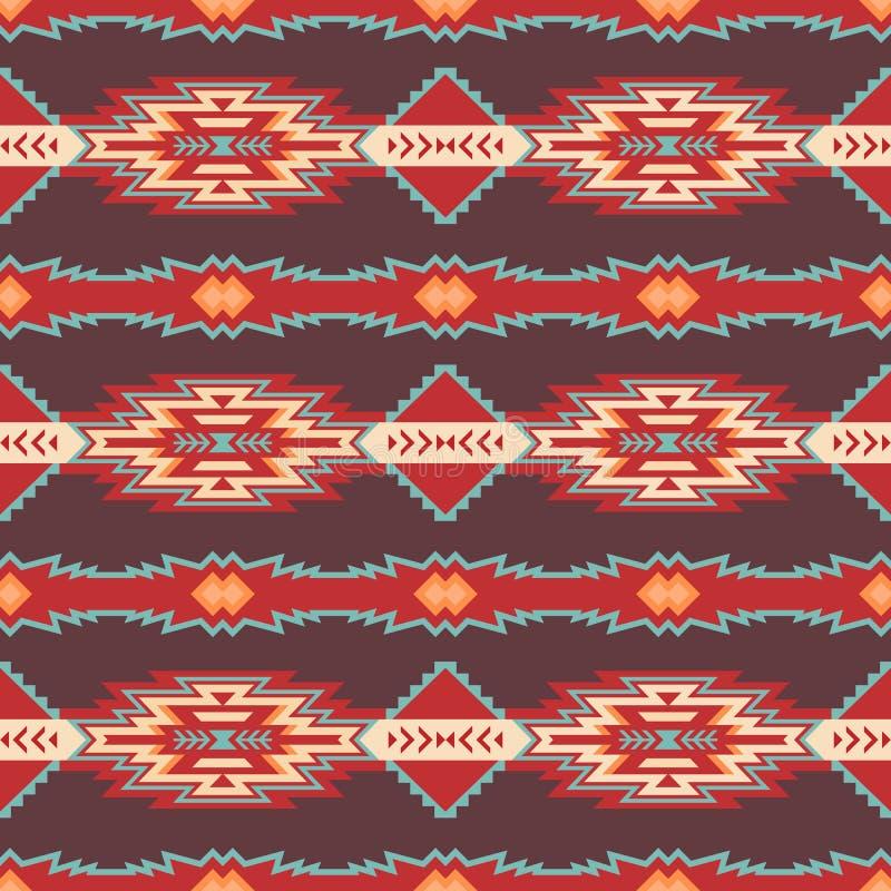 Native Southwest American, Aztec, Navajo seamless pattern royalty free stock image