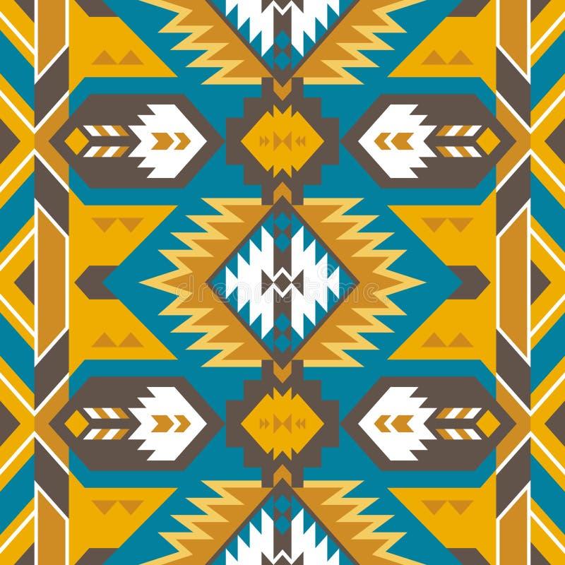 Native Southwest American, Aztec, Navajo seamless pattern royalty free stock photography
