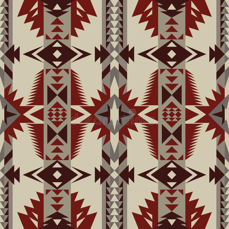 Native Southwest American, Indian, Aztec, Navajo seamless pattern. Geometric design stock image