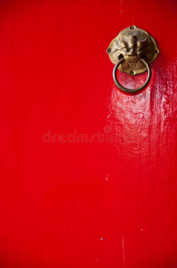 Native Thai style art. At door stock photo