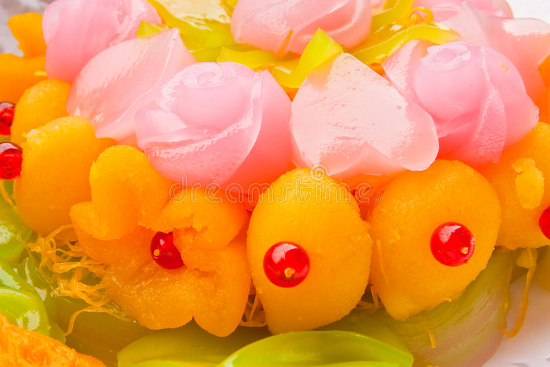Download Native Thai Style Colorful Dessert Stock Image - Image of white, handmade: 12487501