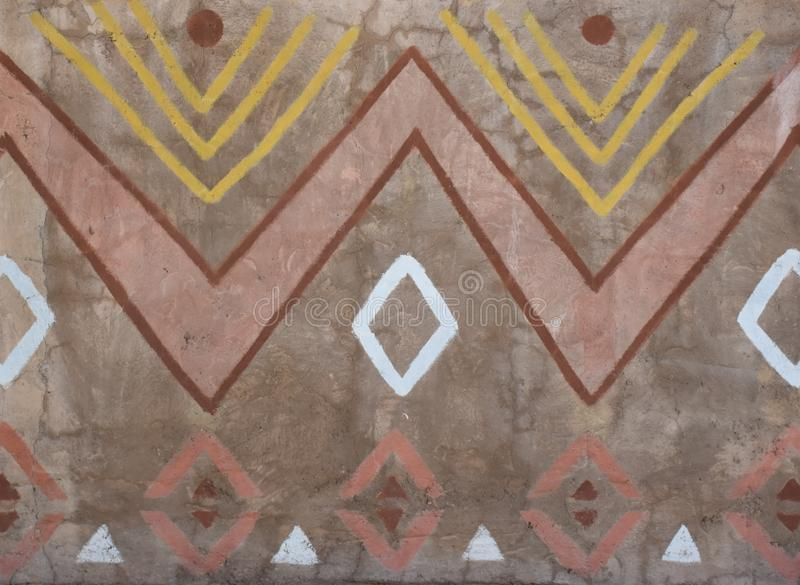 Native wall pattern from South Africa stock image