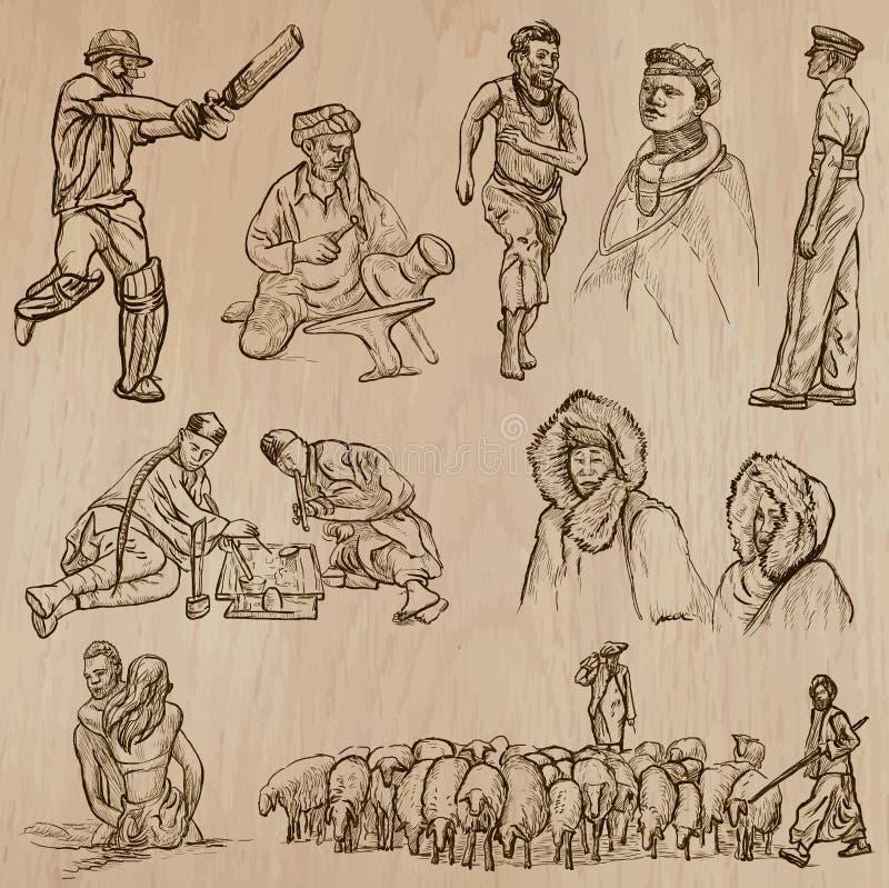 Free Natives - Hand Drawn Vectors Royalty Free Stock Photography - 48430367