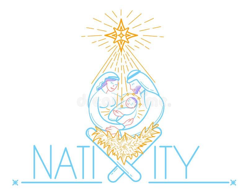 Natividad de Jesus Christ stock de ilustración