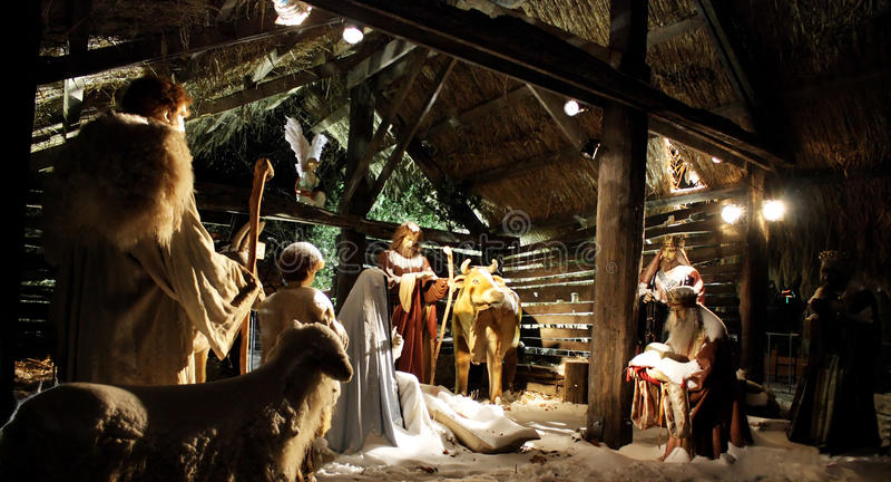 Natividad de la Navidad foto de archivo libre de regalías