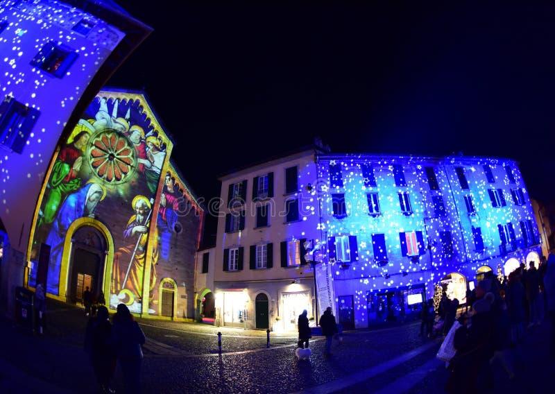 Natividad 2018 en Como, Italia foto de archivo libre de regalías