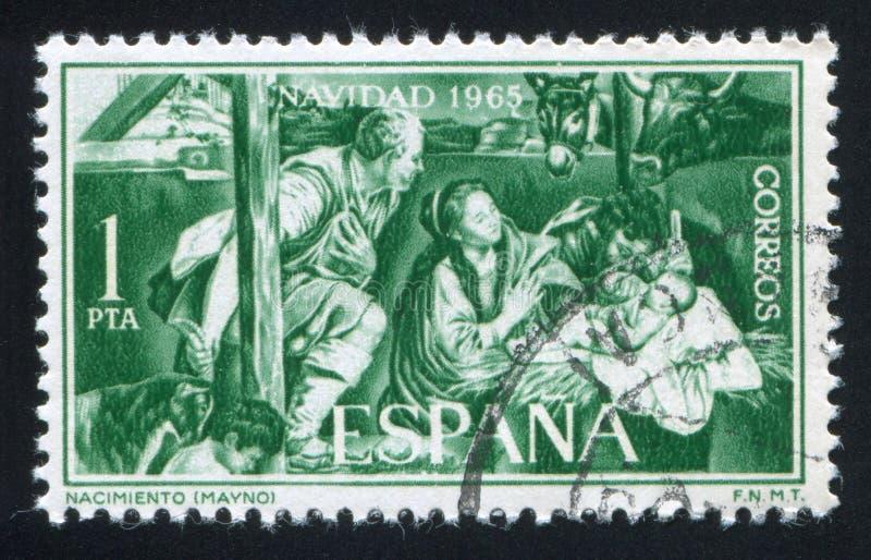 Natividad por Mayno imagenes de archivo