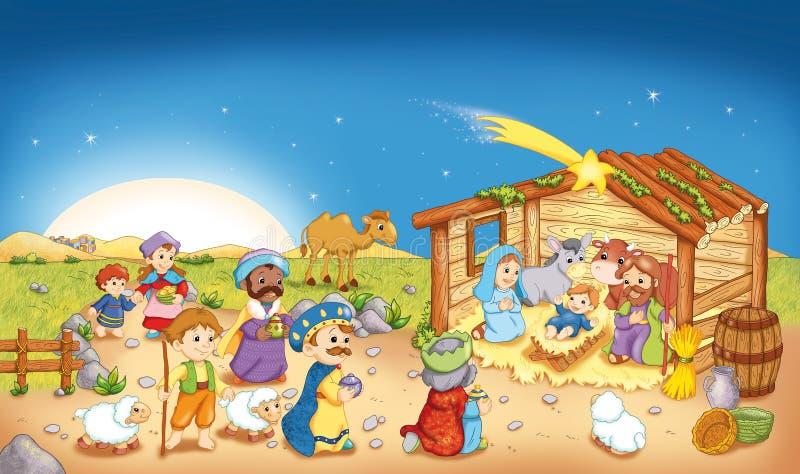 A natividade ilustração stock