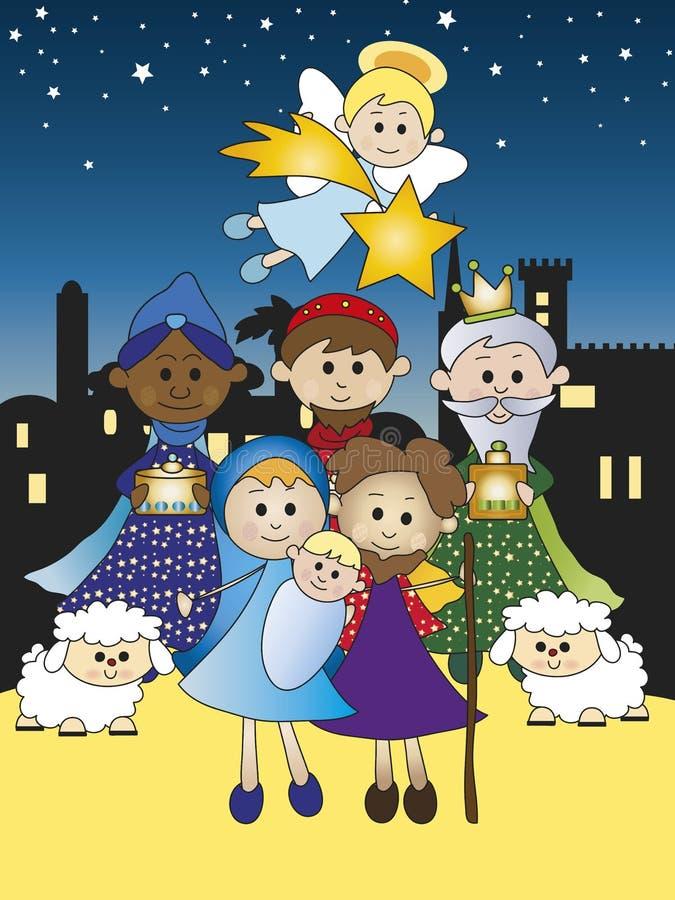 Natividade ilustração royalty free