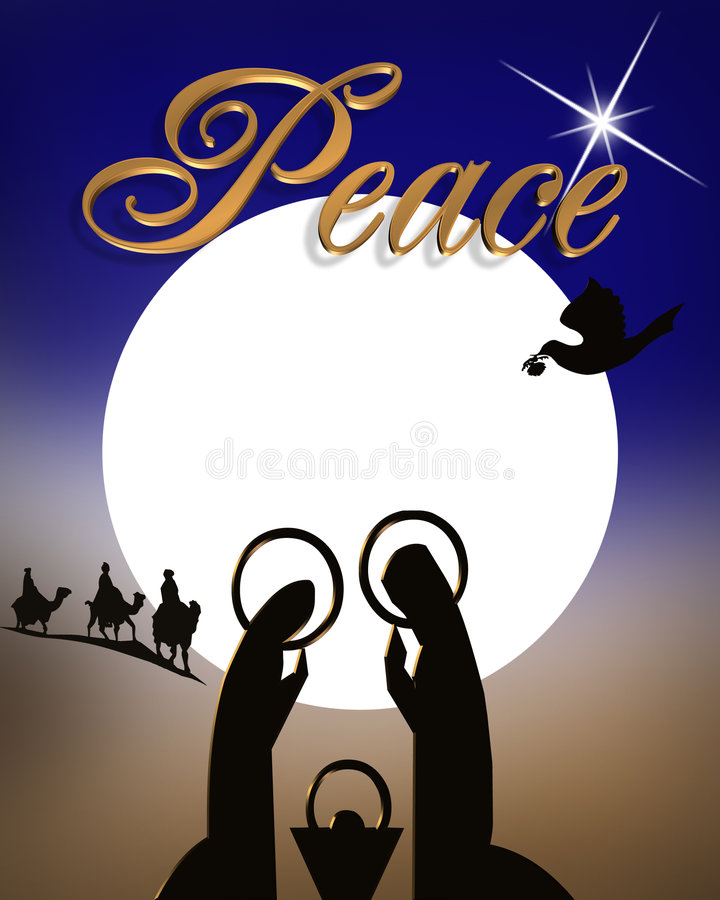 Natividade abstrata do Natal   ilustração royalty free