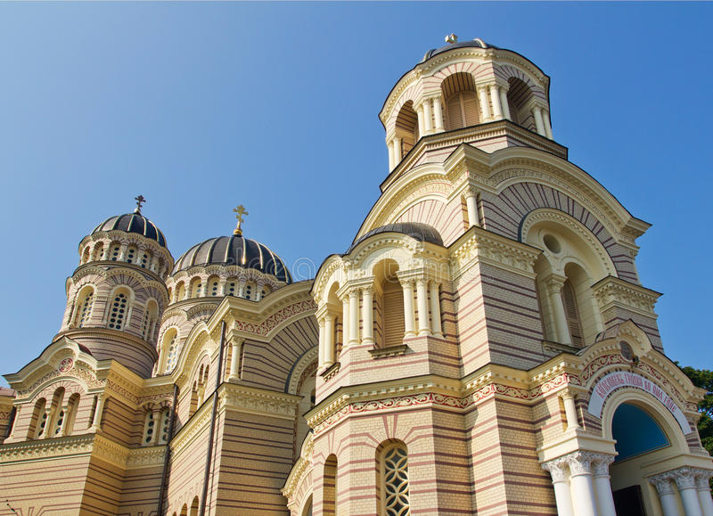 Natividade da catedral de Christ em Riga, Latvia fotos de stock