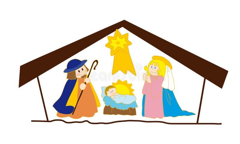 Natividade de Christ. ilustração royalty free