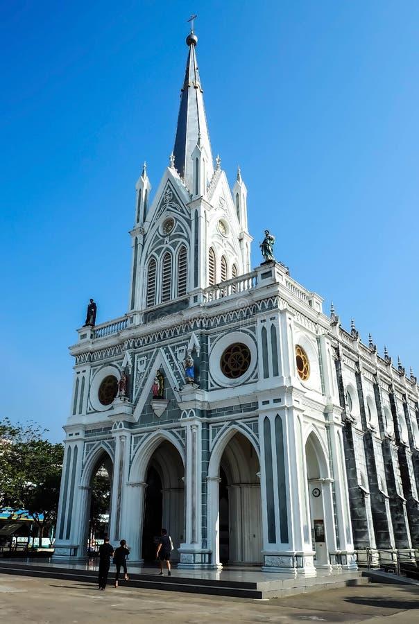 A natividade de nossa senhora Cathedral com céu azul imagem de stock