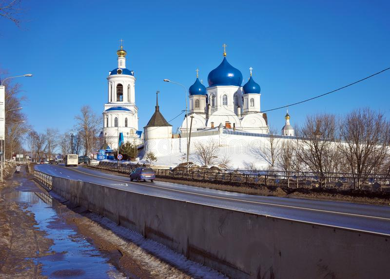 Natividade do convento de Bogolyubsky do Virgin Monastério ortodoxo na vila de Bogolyubovo, região de Vladimir foto de stock royalty free