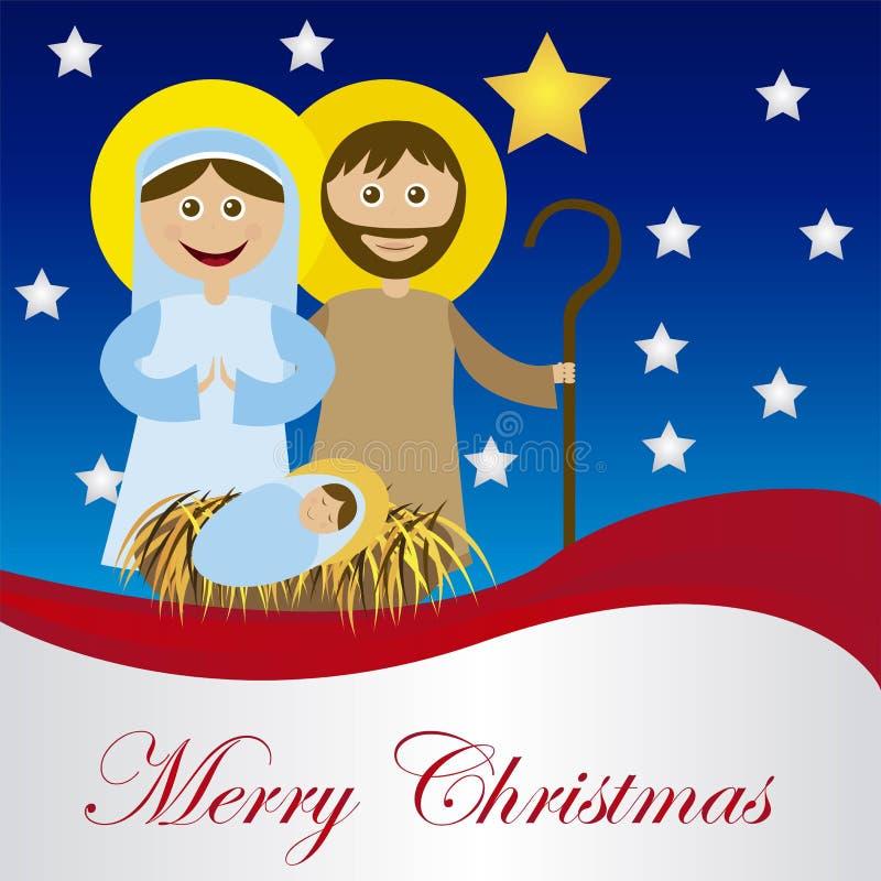 Natividade do Natal ilustração stock