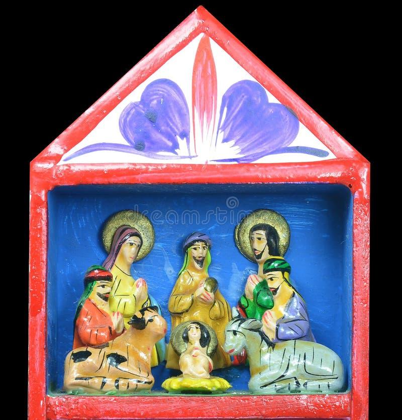 Natividade do Natal da criança santamente Jesus imagens de stock