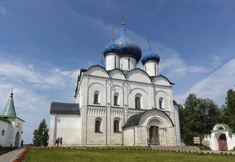 Natividade do Virgin Mary Cathedral, Kremlin de Suzdal fotos de stock