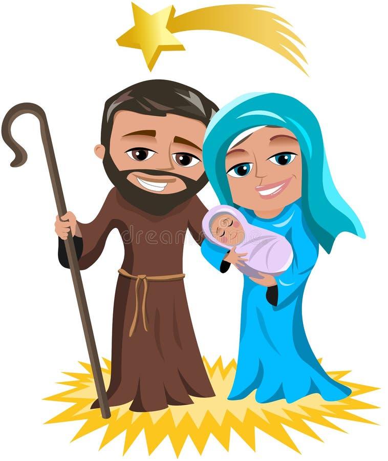 Natividade Jesus Birth do Natal ilustração royalty free