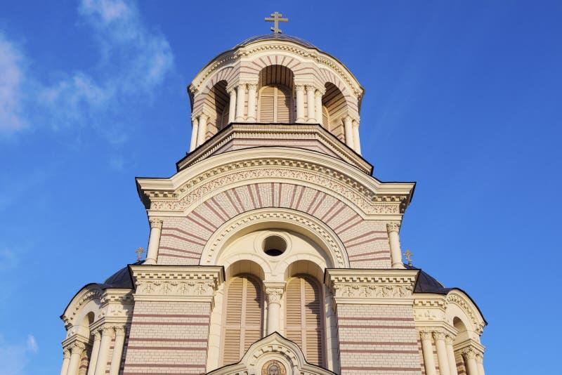 Nativité de Riga de cathédrale orthodoxe du Christ image stock