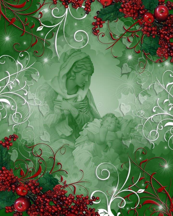 Nativité Madonna religieux de Noël illustration libre de droits