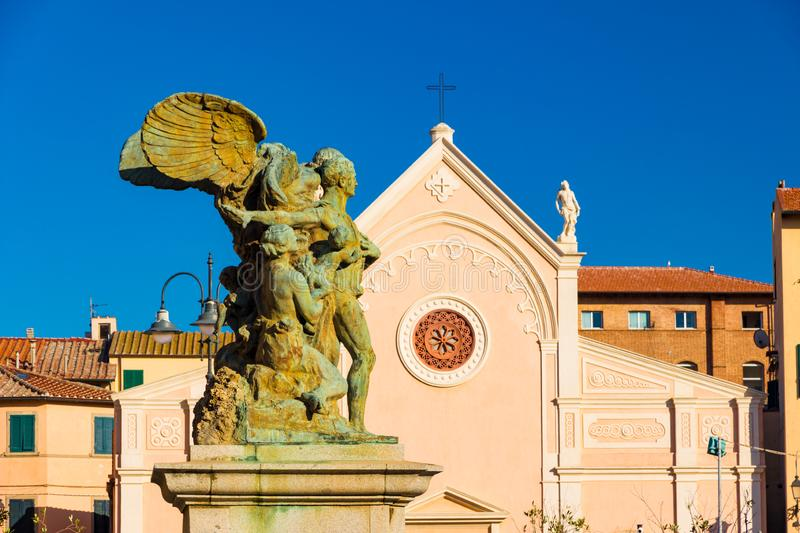 Nativita Beata Vergine Maria Nativity Blessed Virgin Mary Church in Portoferraio, Italy. Nativita Beata Vergine Maria Nativity Blessed Virgin Mary Church in stock photo