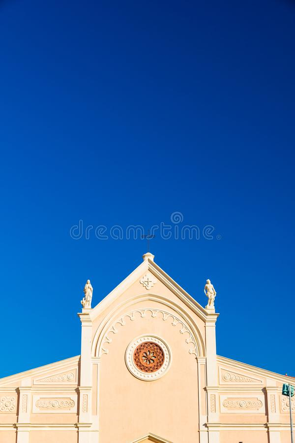 Nativita Beata Vergine Maria Nativity Blessed Virgin Mary Church in Portoferraio, Italy. Nativita Beata Vergine Maria Nativity Blessed Virgin Mary Church in royalty free stock photos