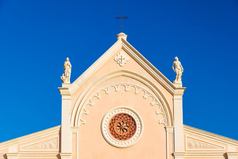 Nativita Beata Vergine Maria Nativity Blessed Virgin Mary Church in Portoferraio, Italy. Nativita Beata Vergine Maria Nativity Blessed Virgin Mary Church in royalty free stock image