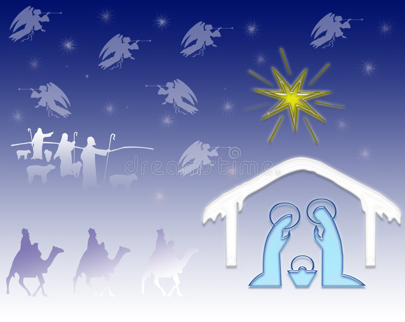 Nativity vector illustration