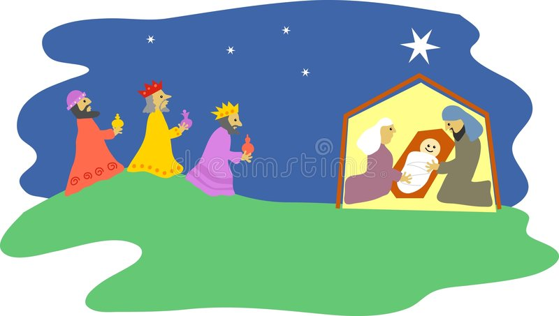 nativity stock illustrationer