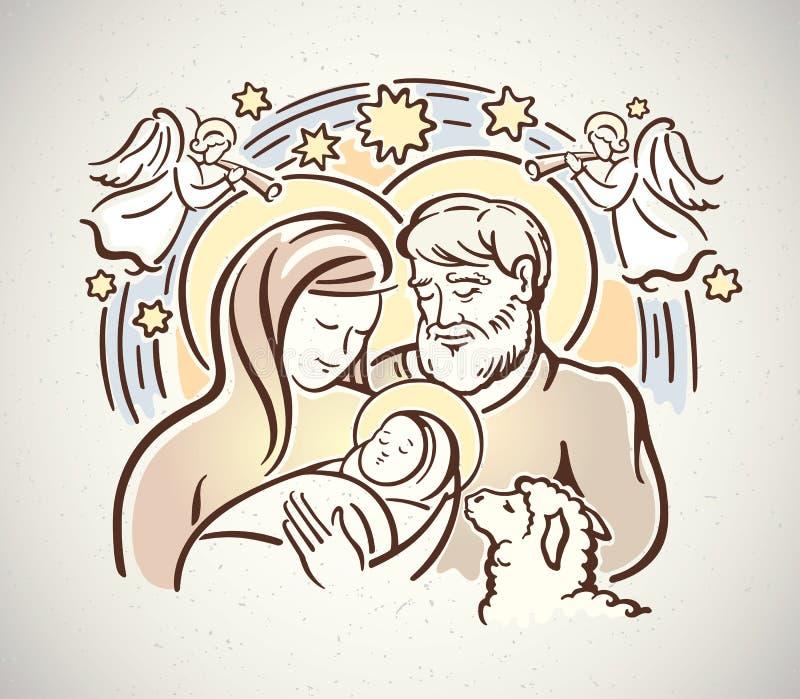 nativity vektor illustrationer