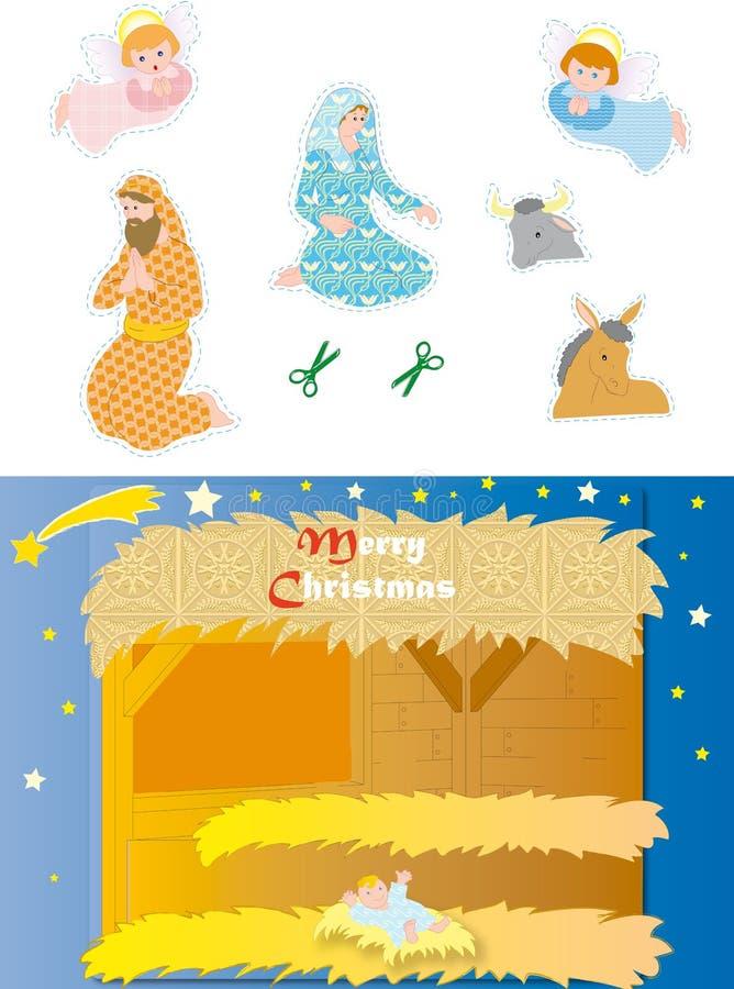 Download Nativity stock vector. Illustration of comet, mary, jesus - 7091719