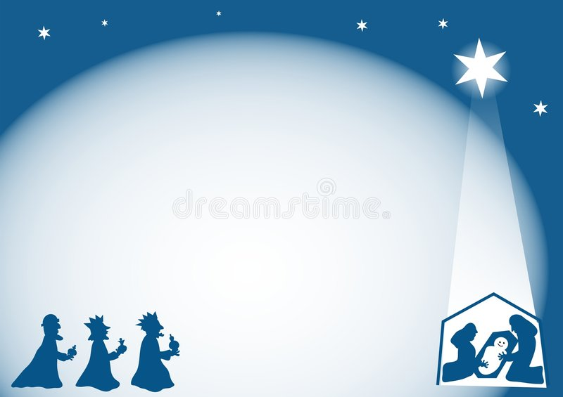 Download Nativity Background stock illustration. Image of page, gifts - 39327