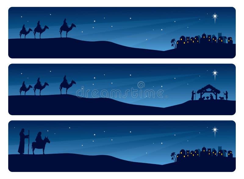 Nativity Banner vector illustration