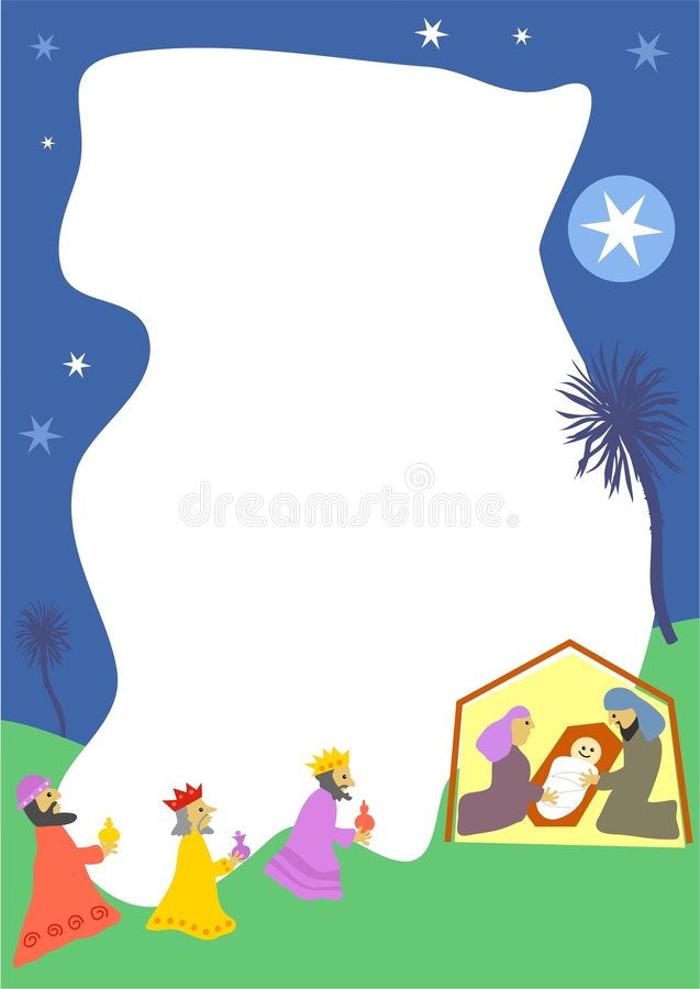 Download Nativity Border stock illustration. Image of people, magi - 100133