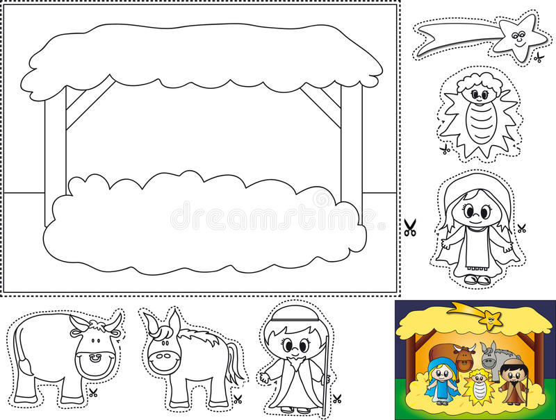 Download Nativity Color Cut And Paste Stock Photos - Image: 16618473