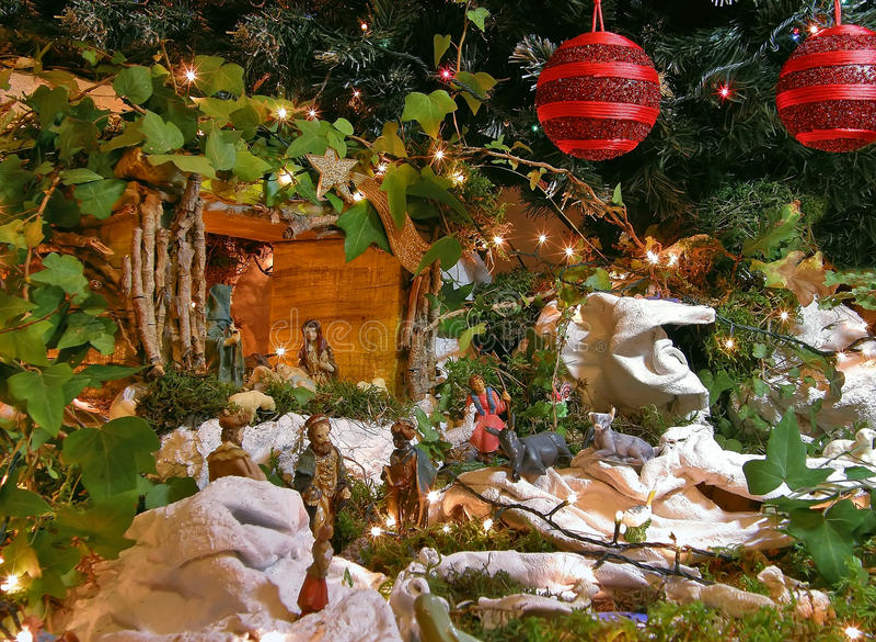 nativity för 2 jul royaltyfri bild