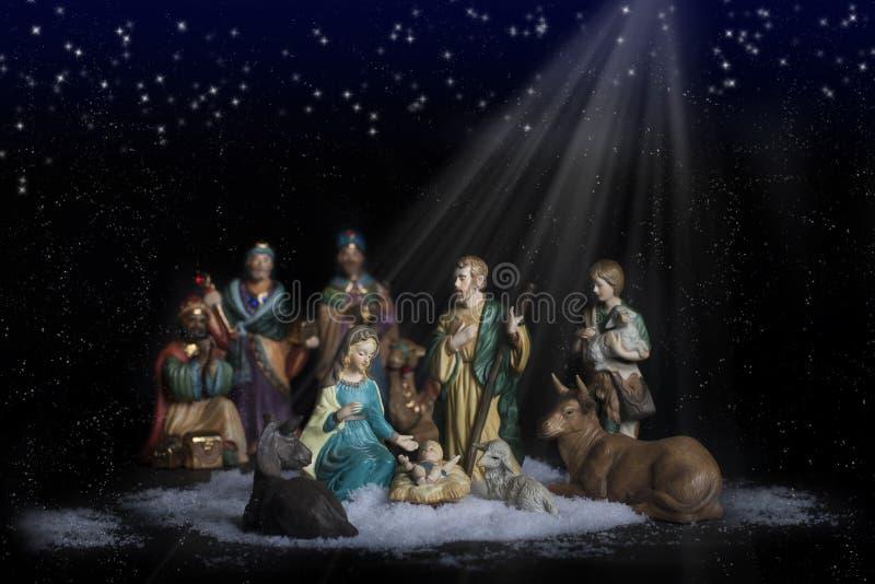 nativity för 2 jul arkivbild