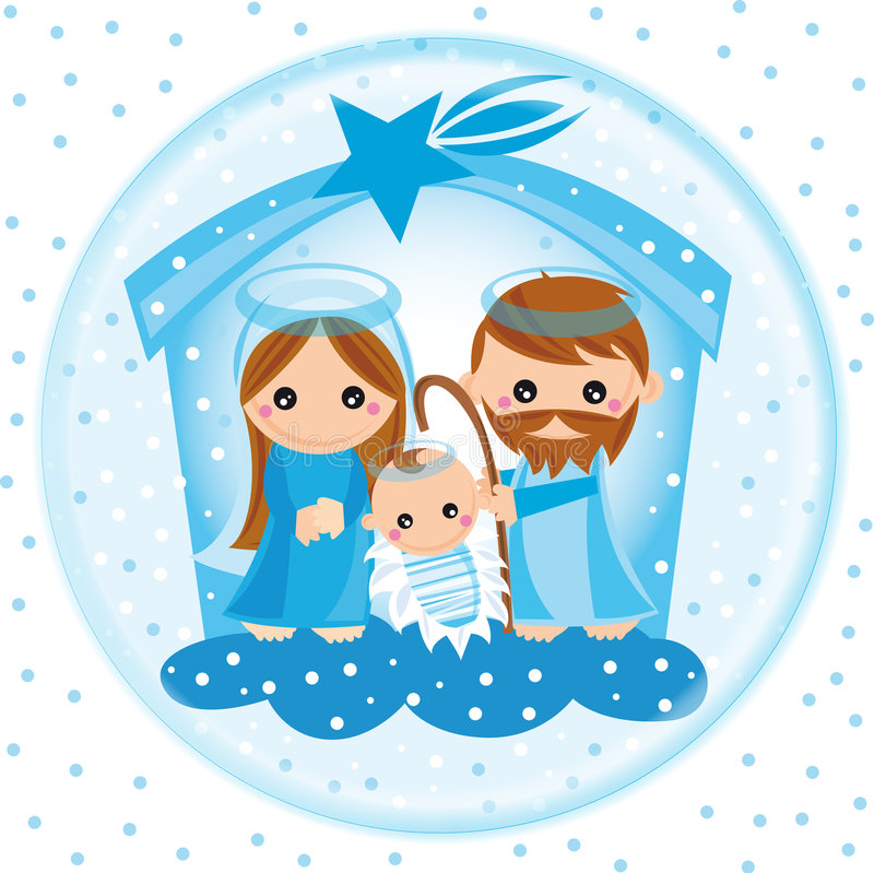 nativity glass ball royalty free illustration