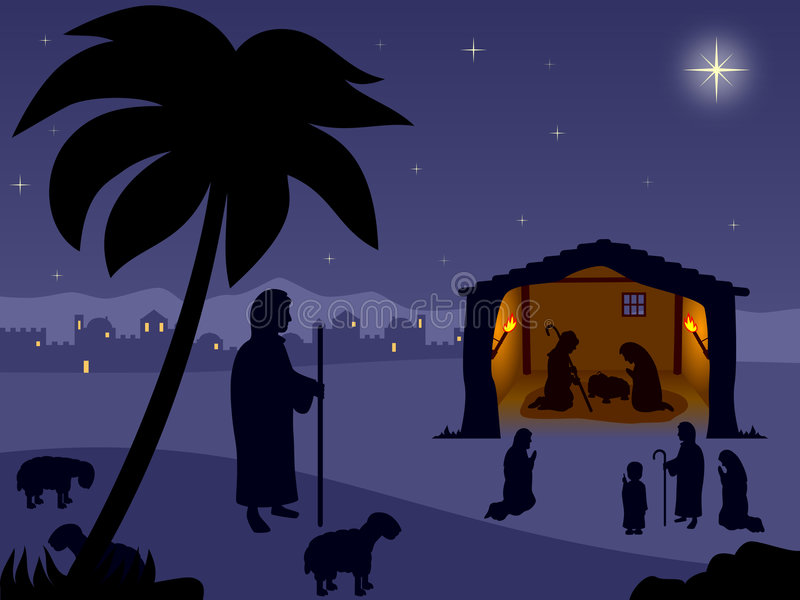 Nativity - The Holy Night vector illustration