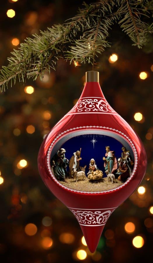 Nativity Ornament royalty free stock image